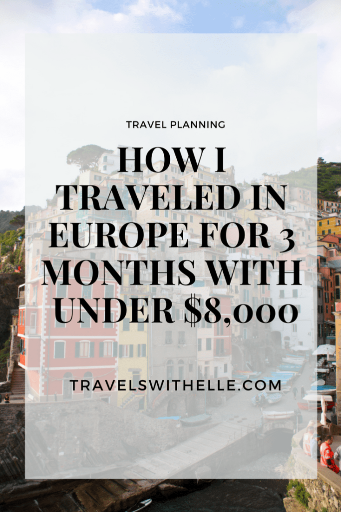 Travels With Elle - How I Traveled Europe For 3 Months With $8000