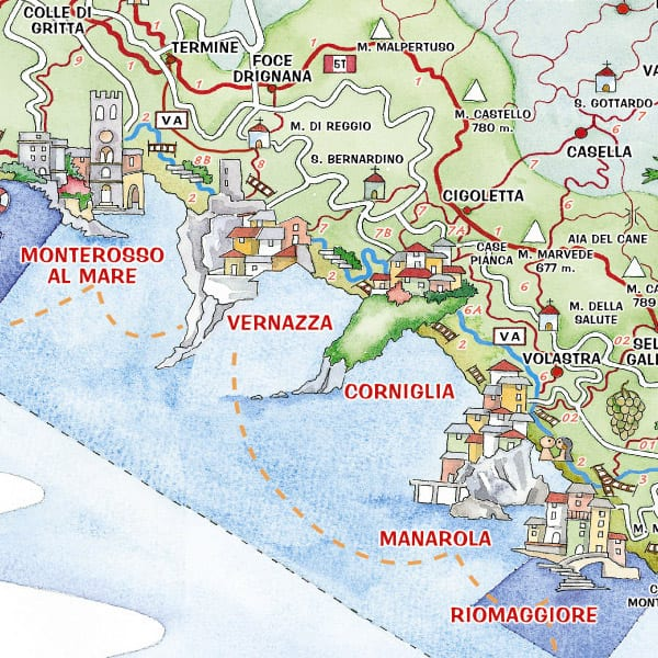 cinque-terre-map - Travels With Elle