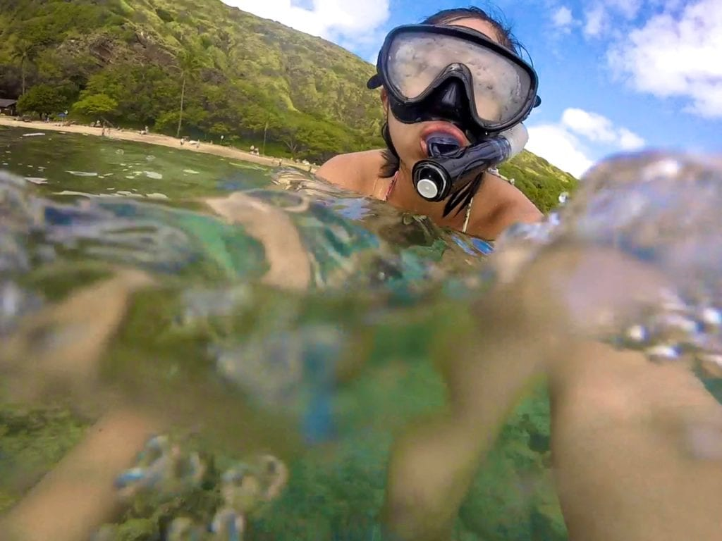 snorkeling in kona hawaii - travels with elle