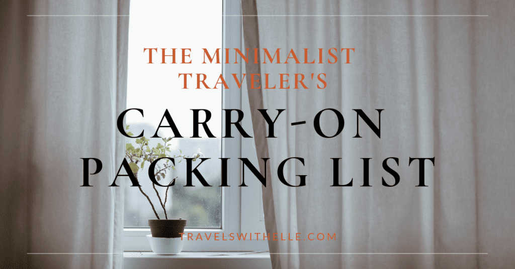 The Minimalist Traveler's Guide to Packing