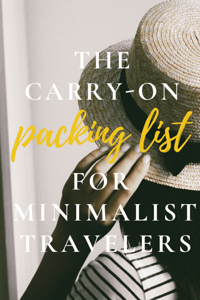 The Minimalist Traveler's Guide to Packing - www.travelswithelle.com