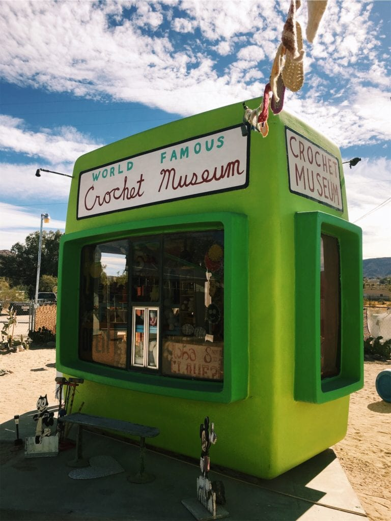 World Famous Crochet Museum - Los Angeles To Las Vegas Road Trip: Cool and Quirky Route 66 Stops - Travels With Elle