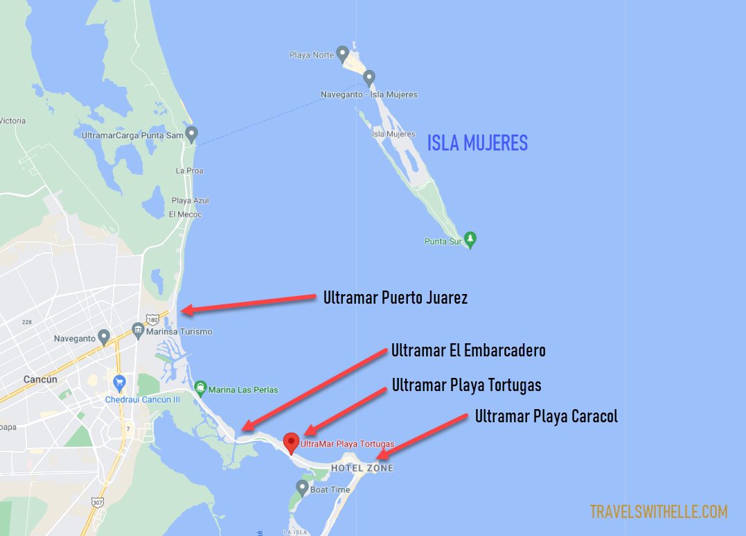 How To Get To Isla Mujeres By Ferry From Cancun - TravelsWithElle