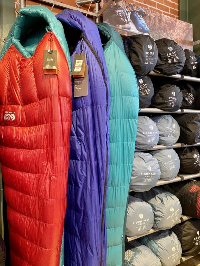 Mountain Hardware Sleeping Bag - How To Get Into The Columbia Employee Store - Travels With Elle