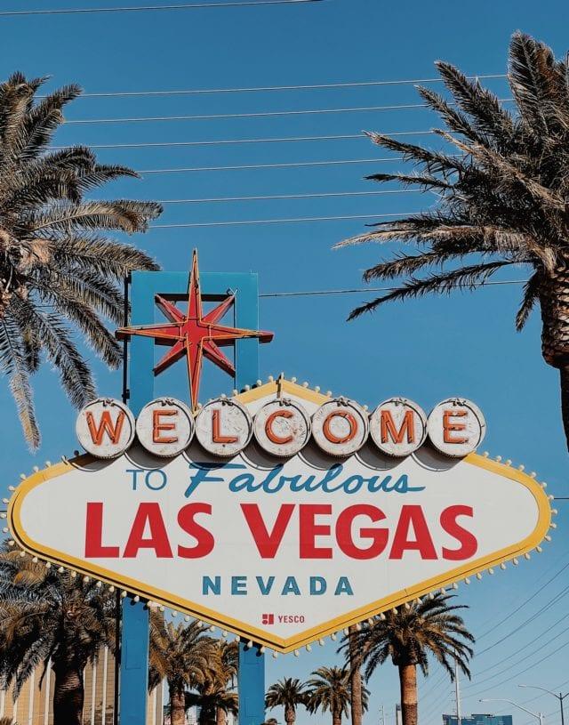 Las Vegas Sign - Best LA to Vegas Road Trip Stops - Travels With Elle