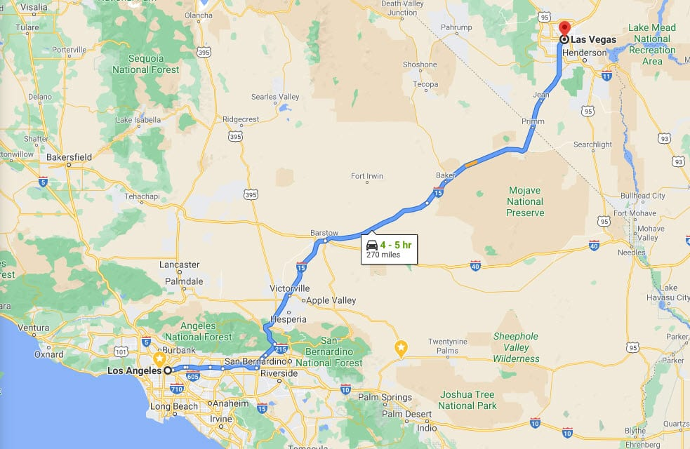 Shorter Route - Los Angeles To Las Vegas Road Trip - Cool and Quirky Route 66 Stops - Travels With Elle