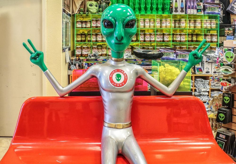 Alien Jerky - Los Angeles To Las Vegas Road Trip: Cool and Quirky Route 66 Stops - Travels With Elle