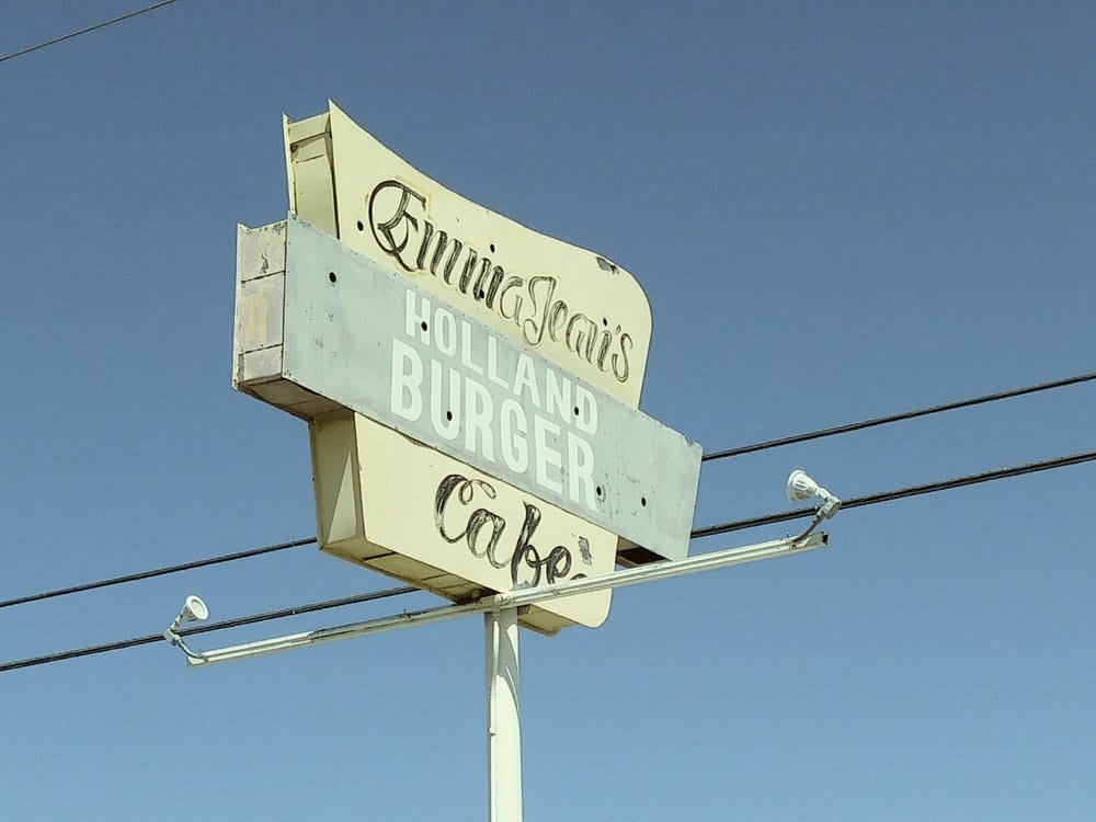 Emma Jean's Holland Burger - Los Angeles To Las Vegas Road Trip: Cool and Quirky Route 66 Stops - Travels With Elle