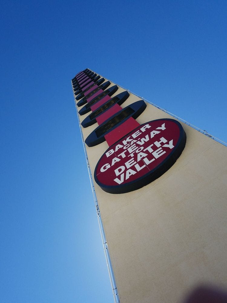 world tallest thermometer - Los Angeles to Las Vegas Road Trip - Travels With Elle