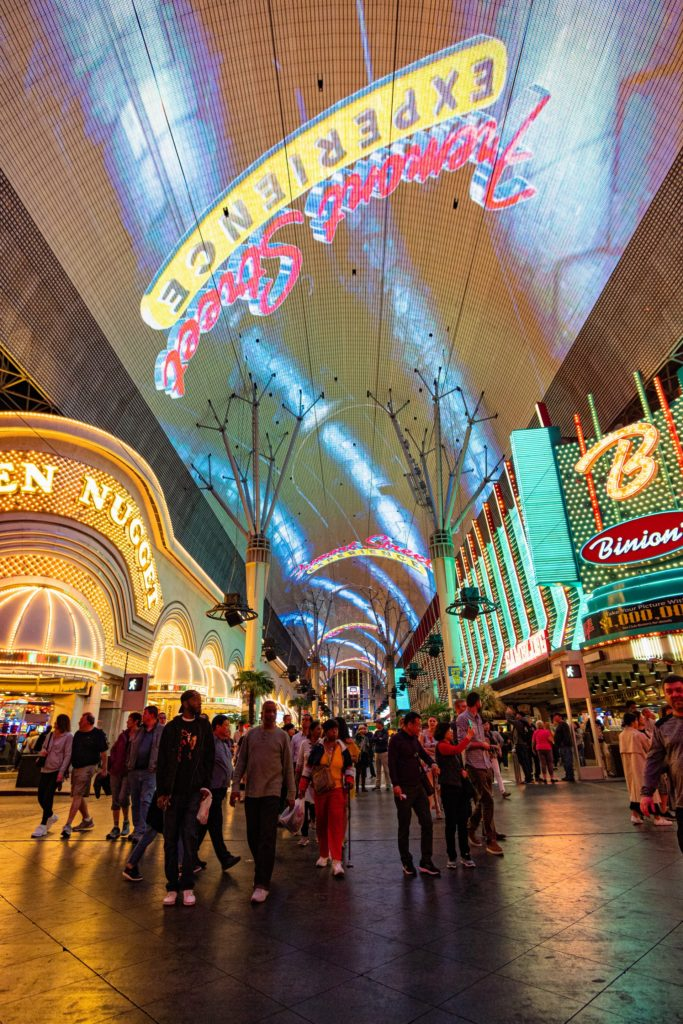 Fremont Street Downtown Las Vegas - Ultimate List of Things To Do In Las Vegas Other Than Gambling or Drinking - Travels With Elle
