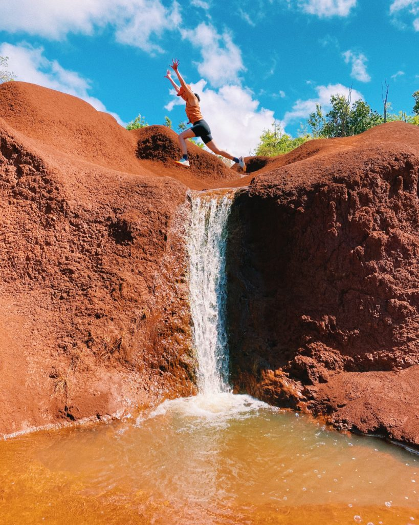 Red Dirt Waterfall - The Perfect 7-Day Kauai Itinerary - TravelsWithElle