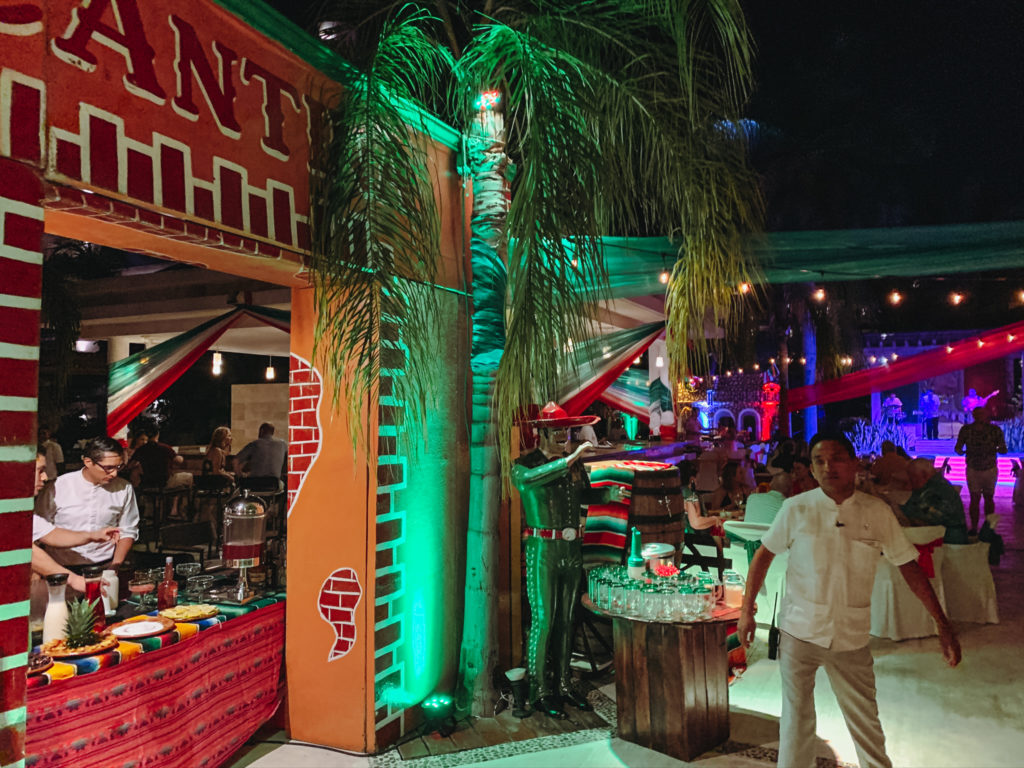 Fiesta Mexicana - Excellence Playa Mujeres Review of Restaurants - TravelsWithElle