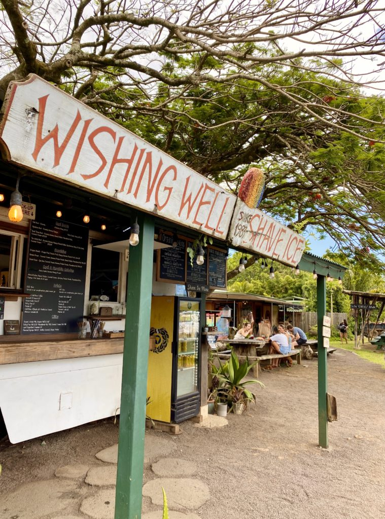 Wishing Well Shave Ice - Hanalei Town - The Perfect 7-Day Kauai Itinerary - TravelsWithElle
