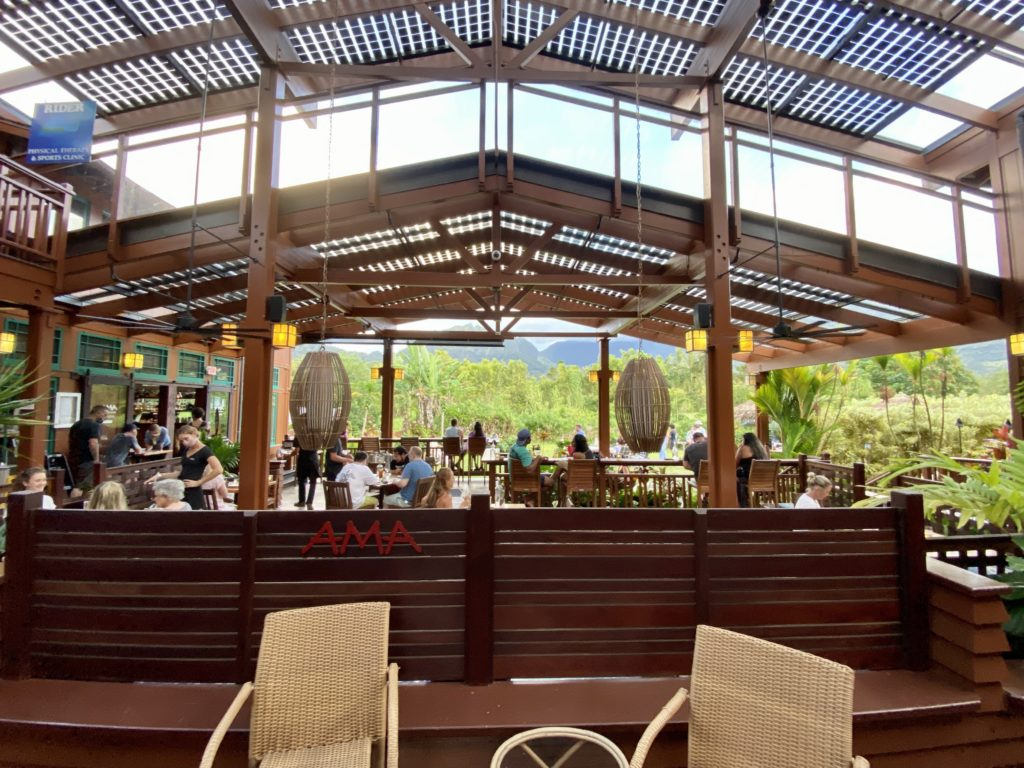 Ama Restaurant Hanalei Town - Best Things To Do In Hanalei Kauai - TravelsWithElle