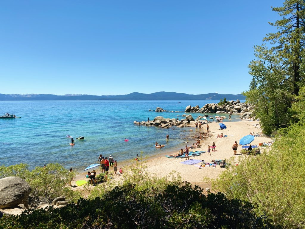 Sand Harbor Beach - Lake Tahoe Road Trip Stops From SF - TravelsWithElle