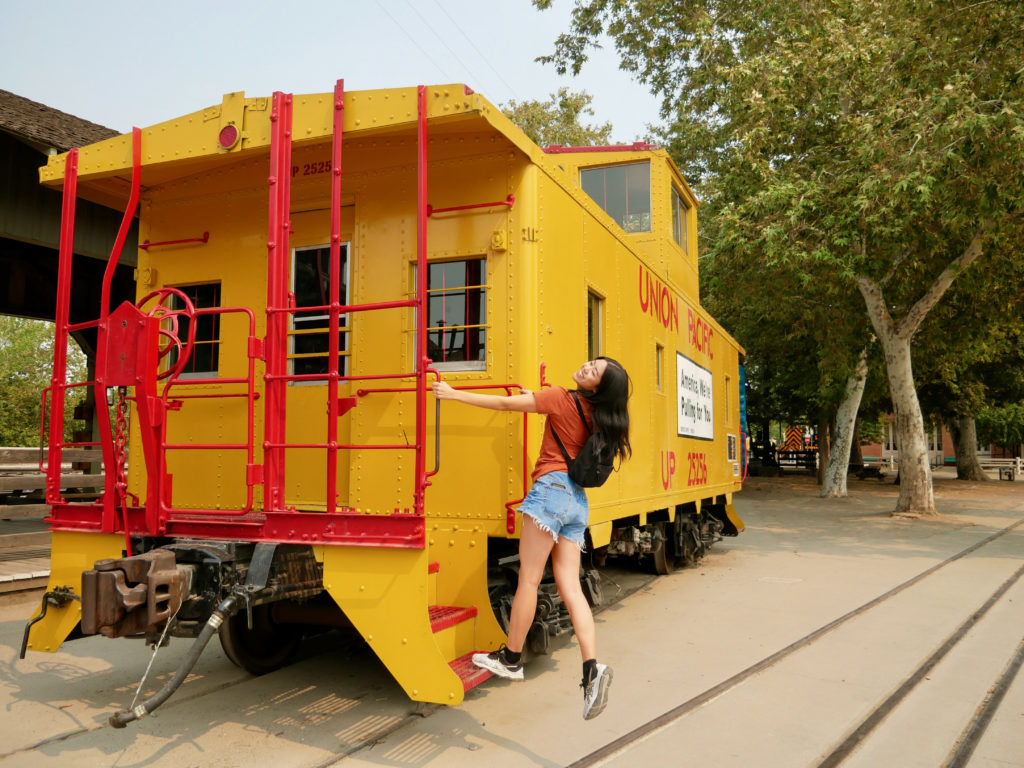 Take A Train Ride - Best Things To Do In Old Town Sacramento - TravelsWithElle
